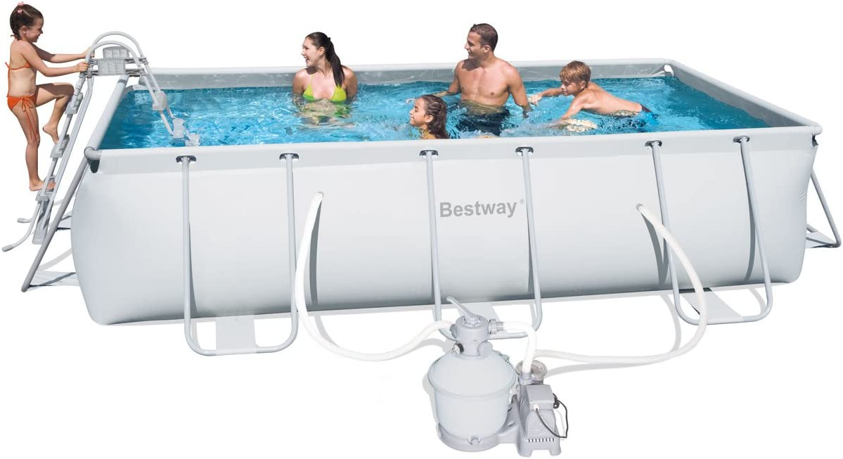 Piscina tubular rectangular bestway 4,04 x 2,01 x 1,00m 56255 ...