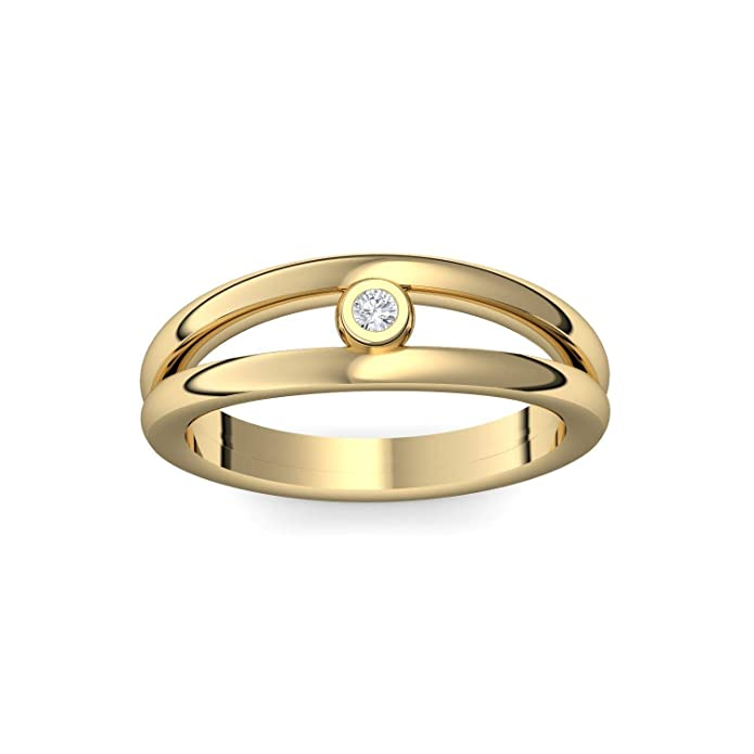 Engagement Rings Gold Plated With Swarovski Crystal Luxury Case