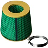 "Fastwayracer Universal Super High Dry Flow Air Filter Intake Cone (3.5""(89MM), Gold)"