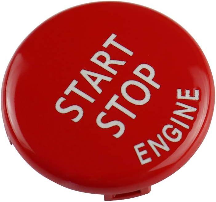 M + pulsante di arresto rosso compatibile con BMW Serie 3 E90 E92 E93 M3 2007-2013 Maxiou Pulsante di ricambio per volante M
