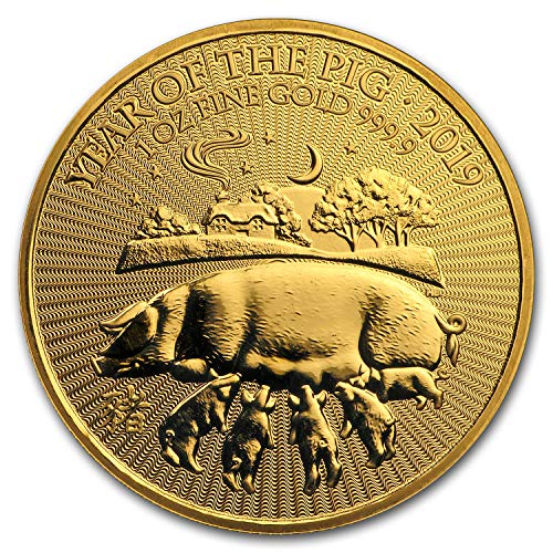 2019 UK Great Britain 1 oz Gold Year of the Pig BU 1 OZ Brilliant Uncirculated