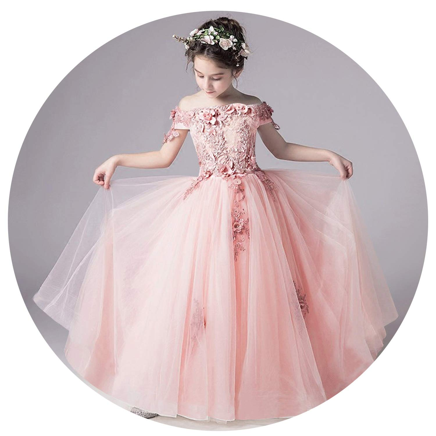 Tulle Lace Infant Pageant for Weddings and Party First Communion Dresses for Girls,as picture1,6