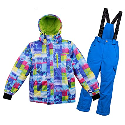 a890e9833aeb Amazon.com   J.SPG Snow Suit Sets Snowboarding Clothing Boy and Girl ...