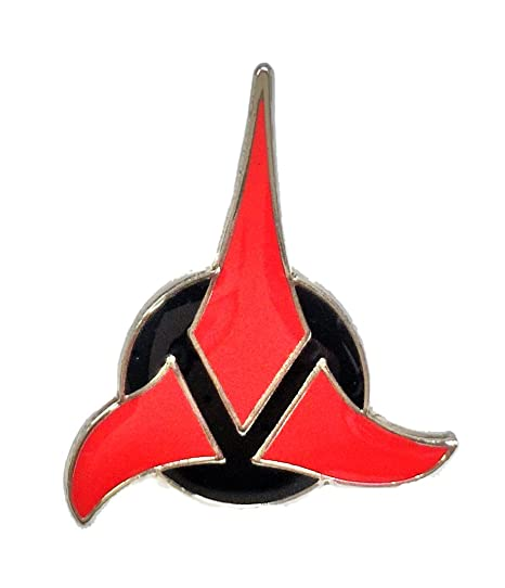 Amazon Star Trek Tng 12 Size Klingon Symbol Logo Enamel Pin