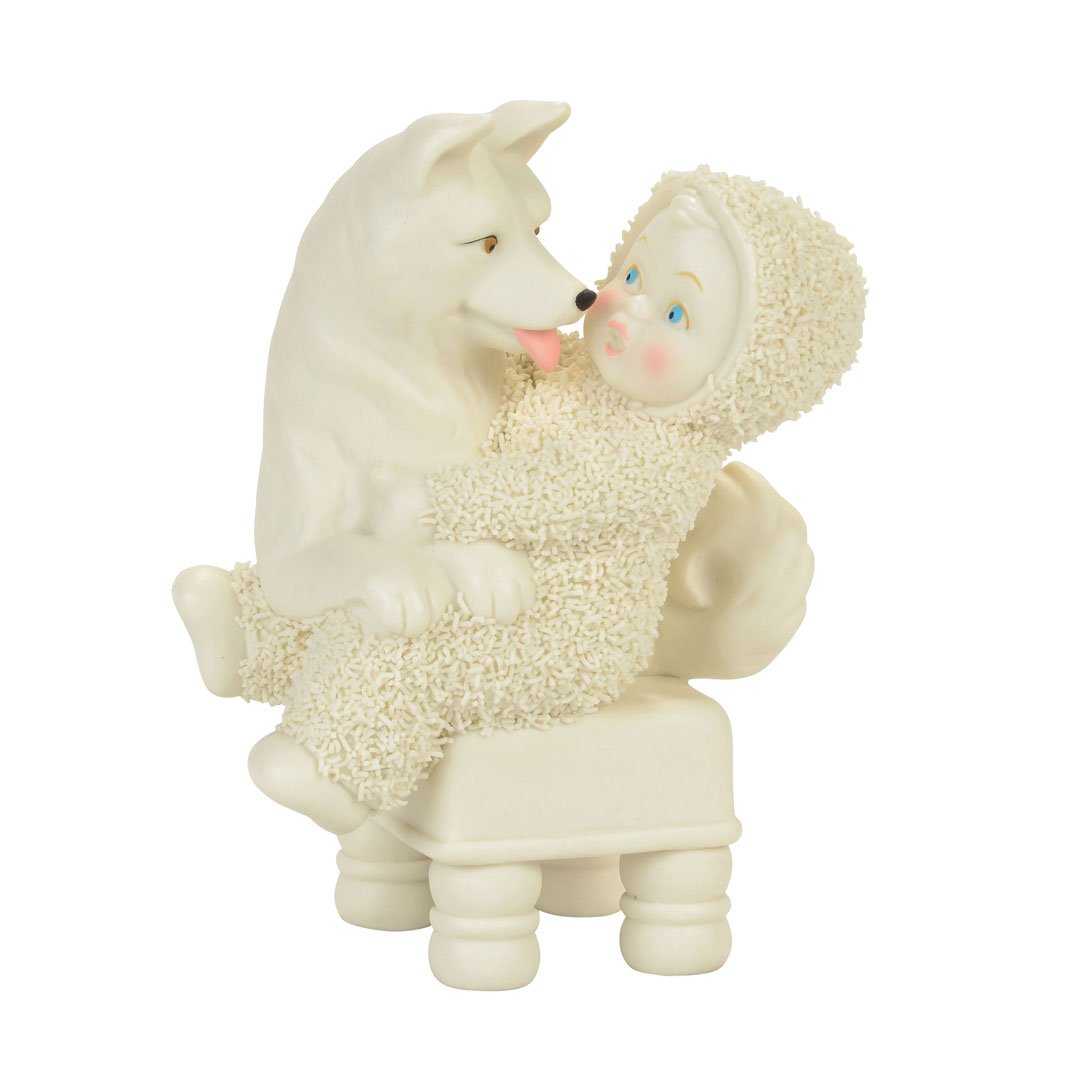 "Department 56 Snowbabies ""Lapdog"" Porcelain Figurine, 4.53"""