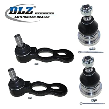 Amazon Com Dlz 4 Pcs Front Suspension Kit 2 Lower 2 Upper Ball