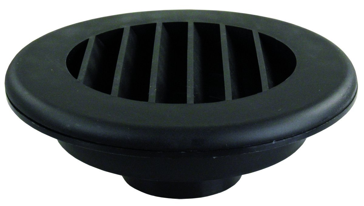 JR Products HV4BK-A Black 4 Heat Vent