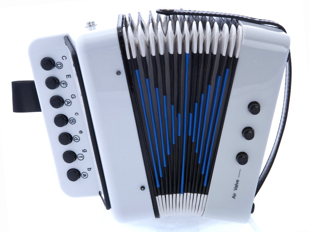 D'Luca Child G105-WT Button Accordion, White by D'Luca