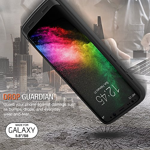 Galaxy S8 Battery Case, Trianium Atomic Pro s8 Charging Battery Pack for Samsung Galaxy S8 5.8-inch Phone - 4500mAh Extended Battery Fast Charger [Quick Charge Pass-Thru] Protective Case Power Pack by Trianium (Image #2)