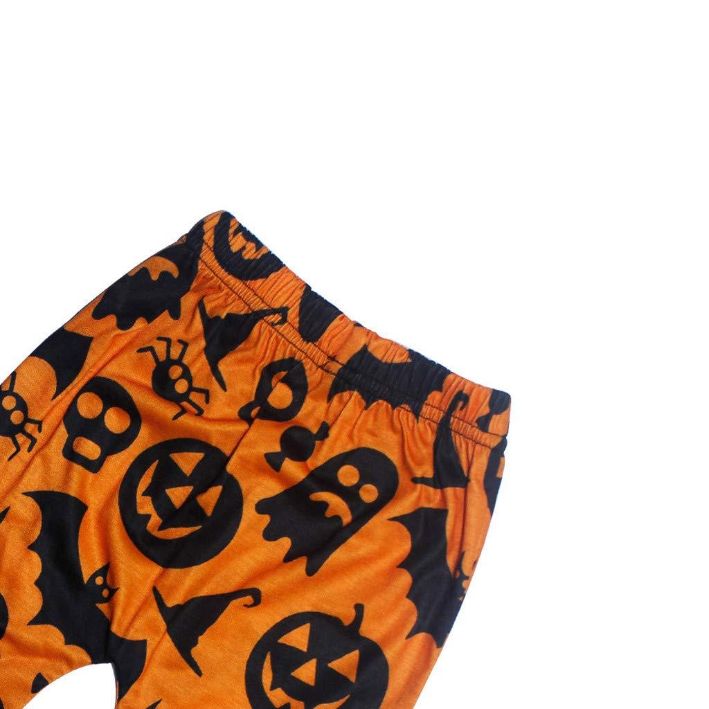 Fille gar/çon Sweat /à Capuche /à Manches Longues avec Capuche et t/ête de Citrouille dhalloween /à imprim/é fant/ôme Pantalon Deux pi/èces Halloween Ensembles de Bebe Fille Gar/çon
