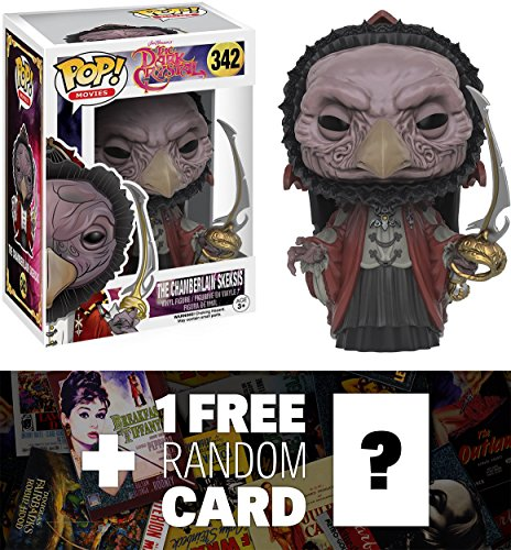 The Chamberlain Skeksis: Funko POP! x The Dark Crystal Vinyl Figure + 1 FREE Classic Movie Trading Card Bundle (096939)