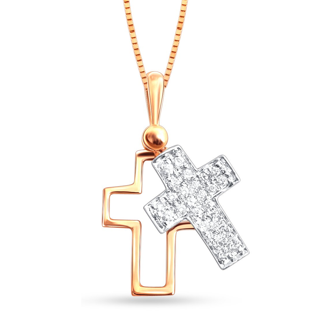 Christmas Gift, God, Almighty, Cross, Jewel Ivy 14k Gold Cross Pendant with Diamond