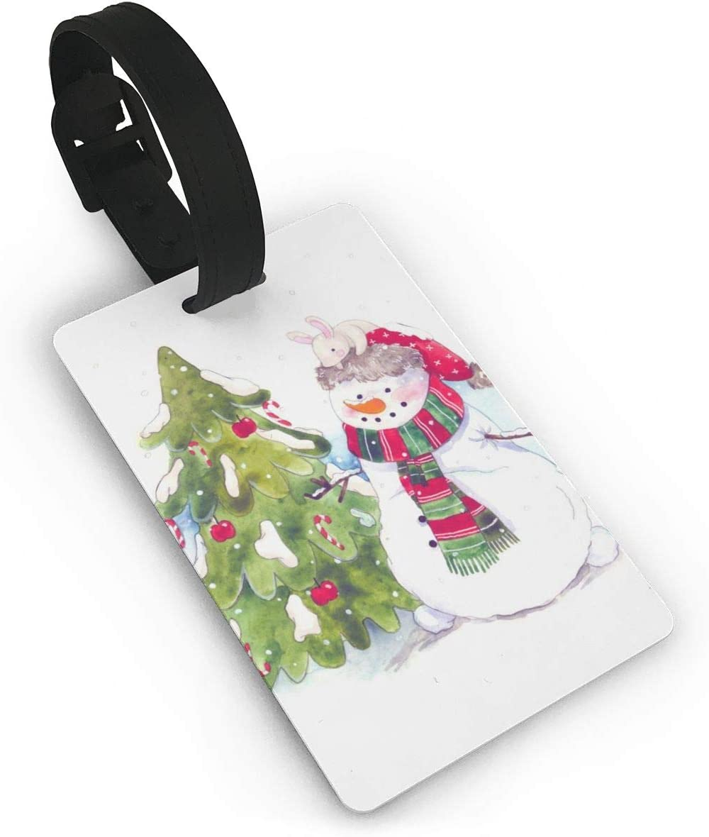 Muñecos de Nieve Navidad Niño Ilustración Aterrizaje Maleta Etiquetas de Equipaje Accesorios de Viaje Etiquetas de Nombre de Equipaje