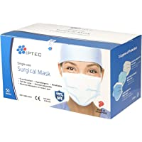 IPTEC Disposable Surgical Face Masks,50 Pcs, Single-use, Made in Singapore, CE-marked, Soft Ear Loop, Breathable, 3…