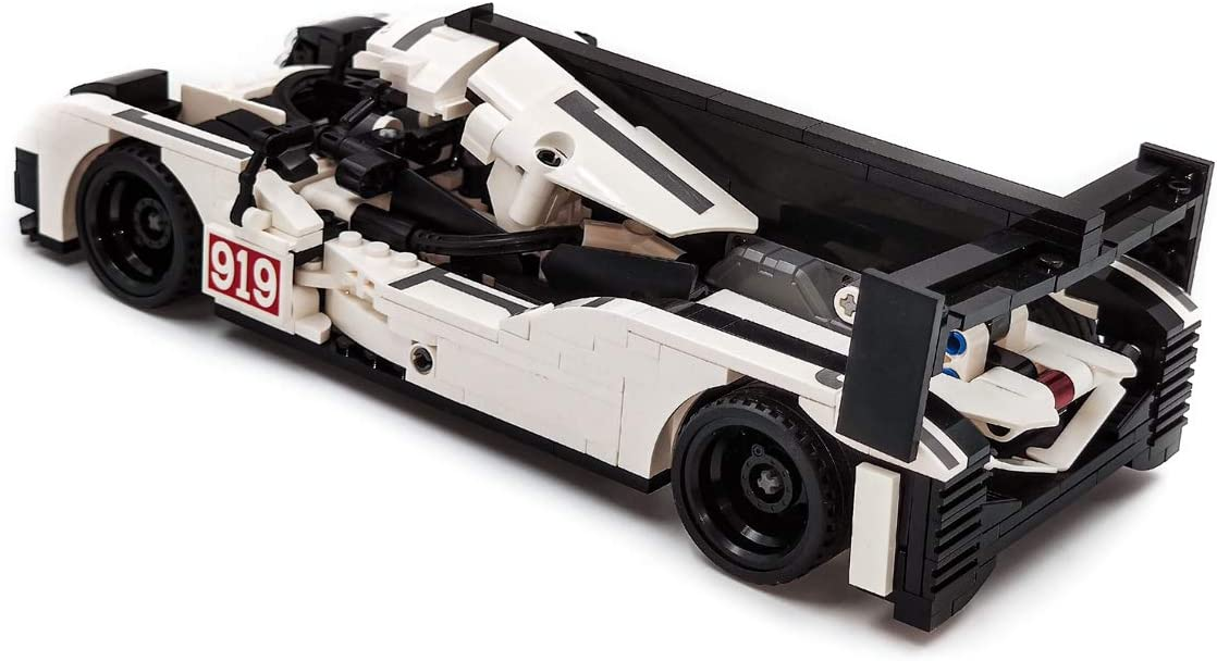 dOvOb Creator 919 White Speed Champions Racing Cars Set,Adult Collectible Model,Building Blocks 621 PCS