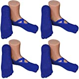 Women's Ballet Style No Show Low Cut Hospital Slipper Socks Great for Barre Pilates Yoga with Non Skid Grips Pack of 4