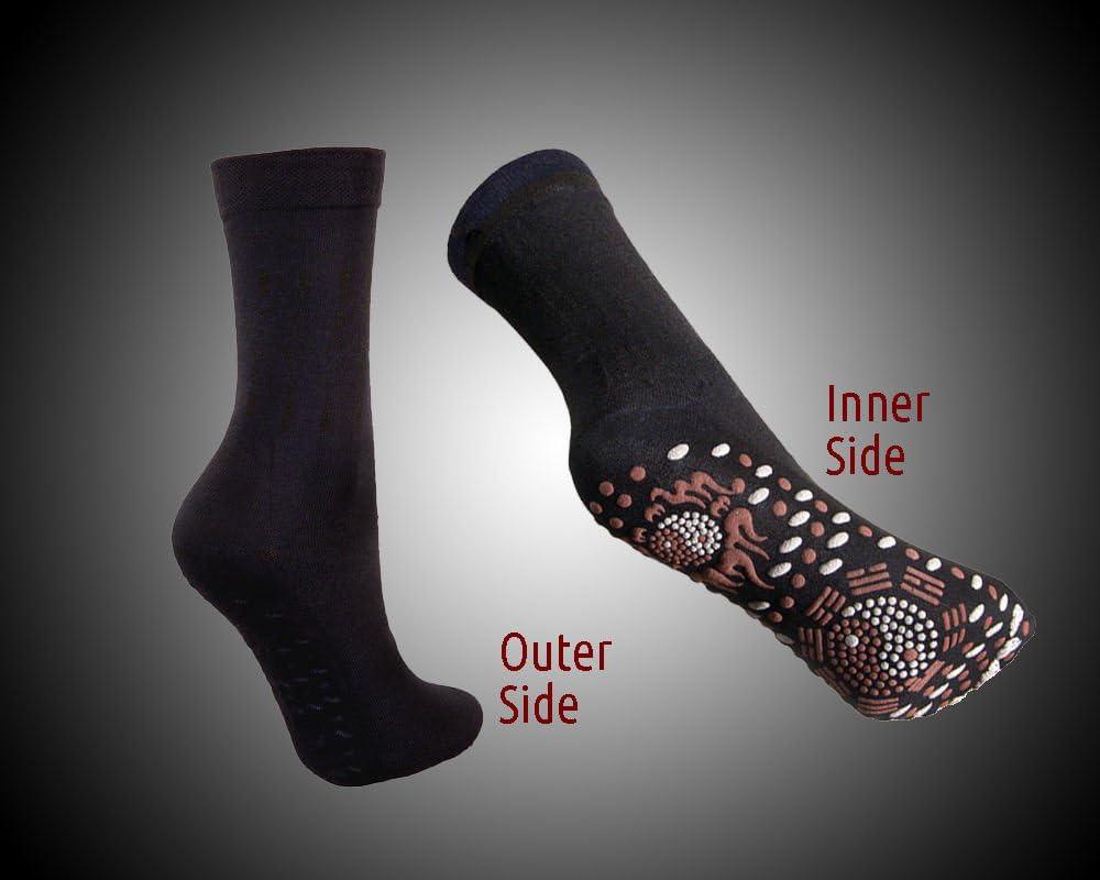 FIR Tourmaline Magnetic Socks Self Heating Therapy Magnetic Socks Unisex Mamum Self-heating Health Socks