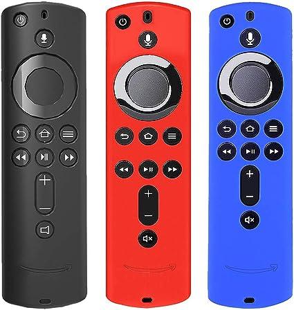 Silikon Schutzhülle Für Fire Tv Stick 4k Und Fire Tv 3 Generation Für Amazon Fire Tv Stick Sprach Fernbedienung Stoßfest 3 Stück Küche Haushalt