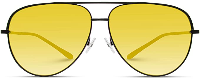 02a38cfa4bdb1 Image Unavailable. Image not available for. Color  WearMe Pro - Oversized  Flat Lens Fashion Designer Inspired Aviator Sunglasses