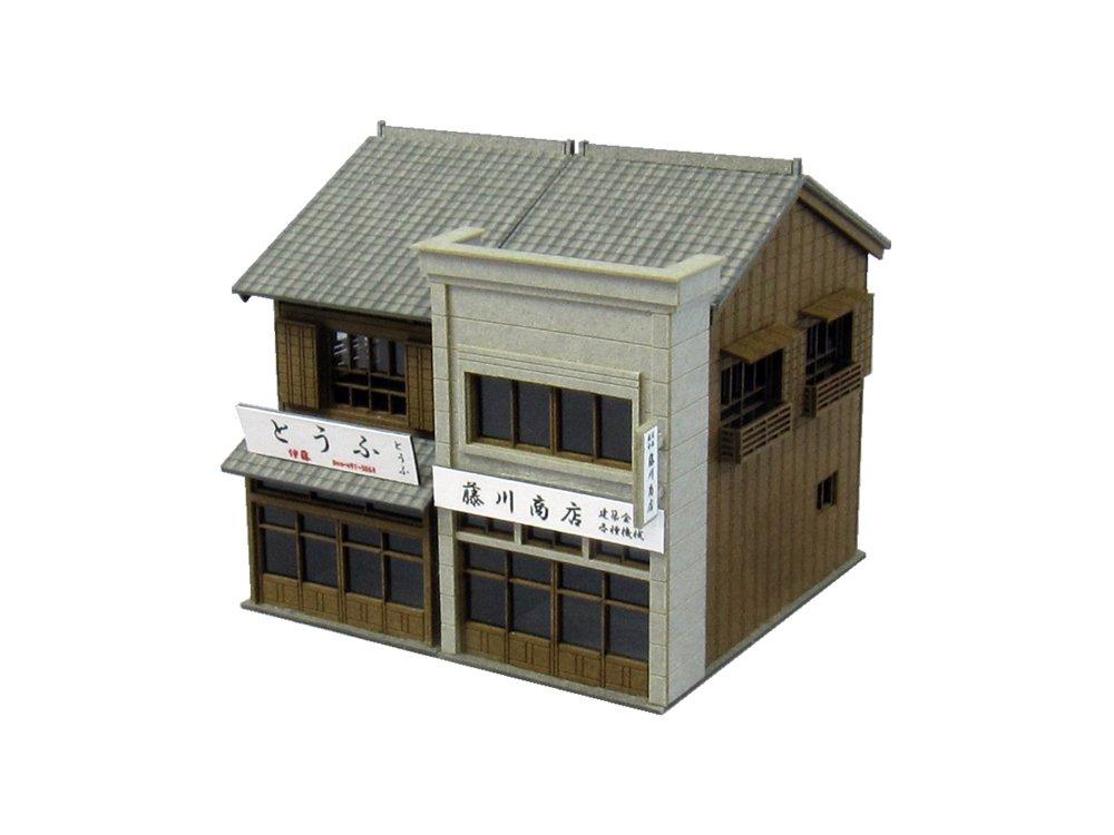 さんけい 1/150 なつかしのジオラマシリーズ 商店D ペーパークラフトキット B003NJKTP6