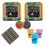 80's Arcade Video Game Party Pack for 16 guests, plates, napkins, large cups