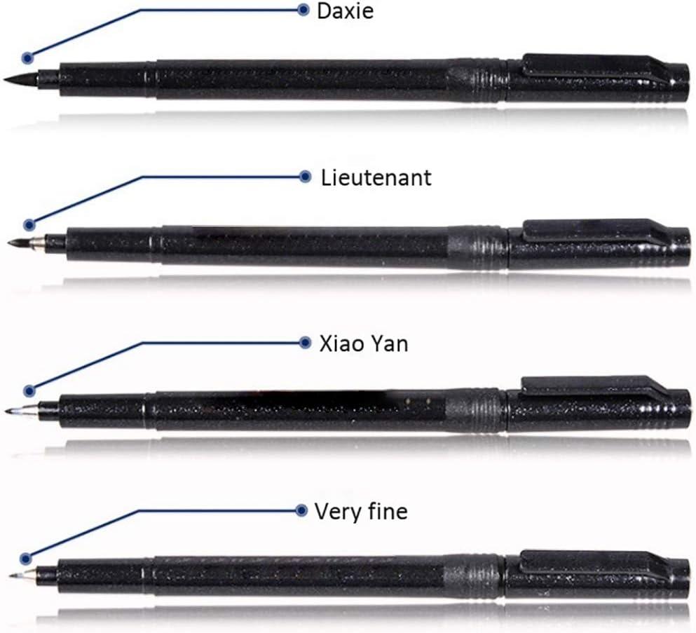 1Pc Pennello Lettering Penne Marcatori per Scrivere Disegno Nero Inchiostro Penne Calligrafia Pennello Re-Ink Soft Tip Pen #1