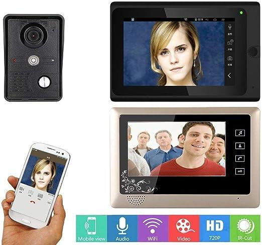 7 Inch Video Doorbell Intercom IR-CUT Wired Wifi View angle 92° Door Camera
