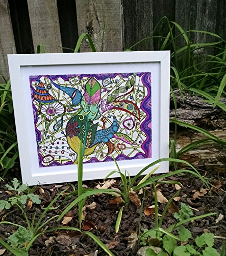 Earth Spirit Feather Zen Doodle by LoVe OuT LoUd DeSiGnS By Wendy