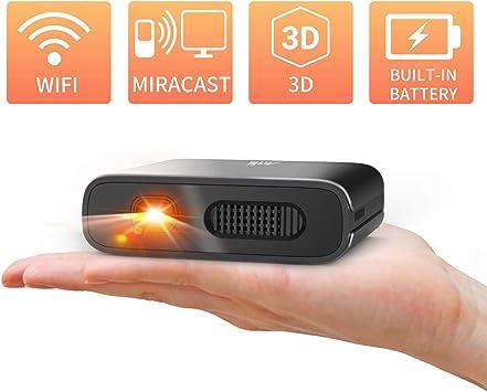 Artlii Mana, Mini Proyector Portátil WiFi 3D, DLP Proyector Móvil ...