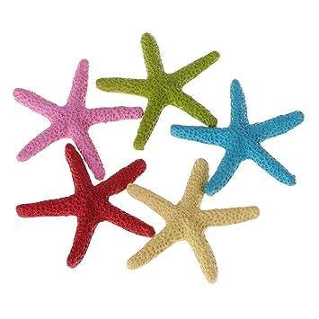 Longsw - 5 Adornos de Acuario de Resina Artificiales para pecera, diseño de Estrella de mar: Amazon.es: Productos para mascotas
