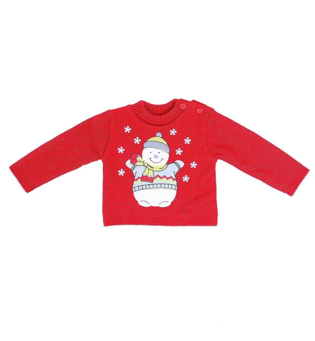 adam & eesa Kids Baby Boys Girls Winter Festive Christmas Jumpers Sweaters 11 Xmas Designs Ages 0-2 Years