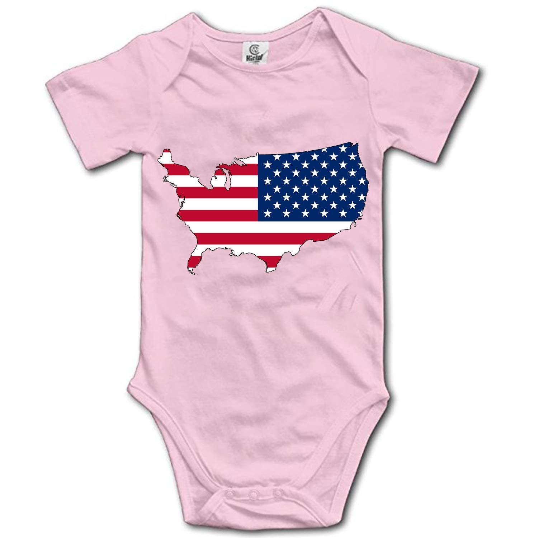Qilrocm Romper for Baby Girls Boys Kuwait Flag Fingerprint Short Sleeve Jumpsuit Outsuit