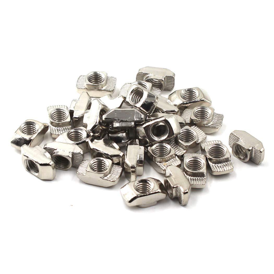 M5 Tête de marteau T-slot Nut Pour 20 séries profilé en aluminium européen (100 pièces) DE YIN