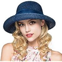 Kqpoinw Sombrero para El Sol, Gorra de Paja para Mujer Sombrero Plegable Sombrero Ancho de ala Ancha Sombrero para El…