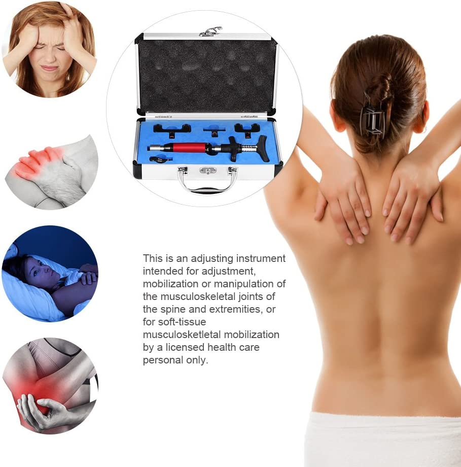 6 Levels Manual Forth Heads Spinal Massager, Portable Chiropractic Adjustment Kit Spine Back Massage Tool for Adjust Vertebration and Thoracic, Scoliosis