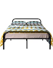 Aingoo Bed Frame Solid Bedstead Base with Large Storage Space for Children Adults Kids Black