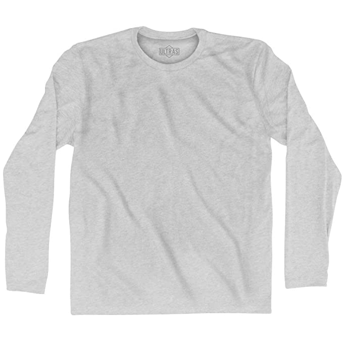 43e89f0d Ultras Blank Long Sleeve T-shirt, Grey Heather, Adult Small