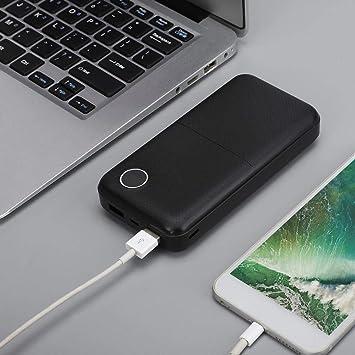 Kafuty Caja de batería Externa portátil de 20000mAh Power Bank con Pantalla Digital, adopta Fibra de Carbono Liviana, baterías de polímero Cumple con los estándares de embarque.(Negro): Amazon.es: Electrónica