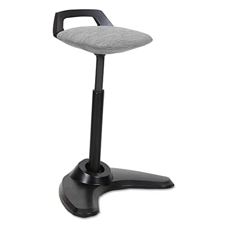 Fine Alera Aleae35Psgr Adaptivergo Sit To Stand Perch Stool Gray With Black Base Dailytribune Chair Design For Home Dailytribuneorg