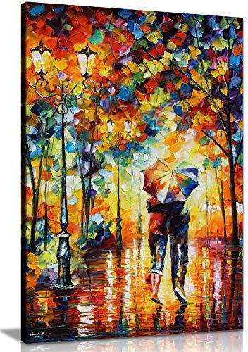 NOBRAND Cuadro de Lienzo Pareja bajo un Paraguas por Leonid Afremov Cuadro de Lienzo Arte de la Pared Impresion para decoracion del hogar 70x100cm(27 6x39 4 Pulgadas) Sin marco4