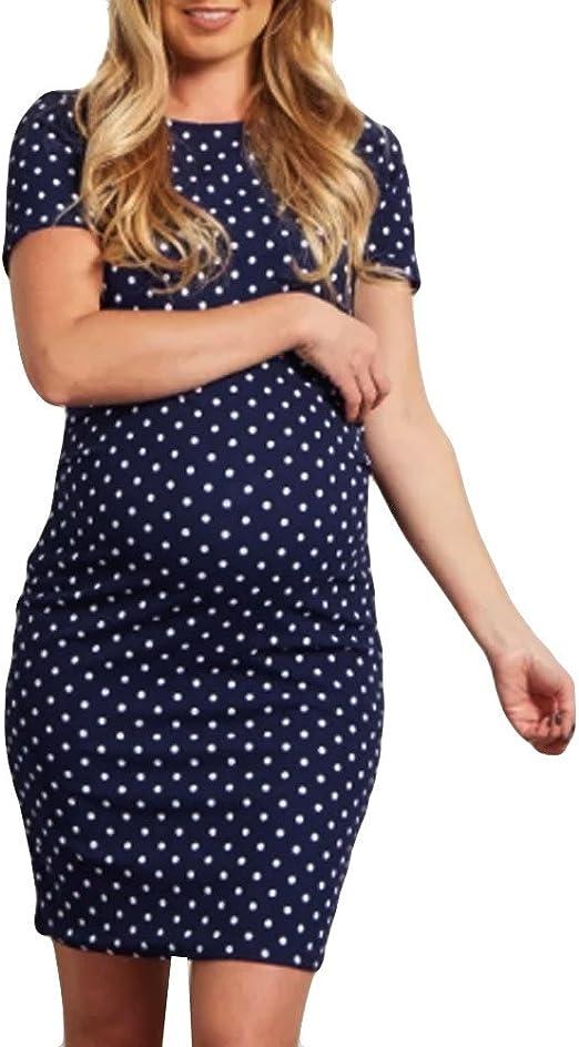 Vestidos para Mujer Moda Puntos Ropa premamá Mamá Casuales Slim Fit Vestido de Maternidad Falda de Verano Simplicidad y Moda Cómodo Transpirables ...