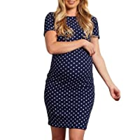 Maternity Dress Clothes, Woman Pregnant Wave Short Sleeve Multi-Function Dress