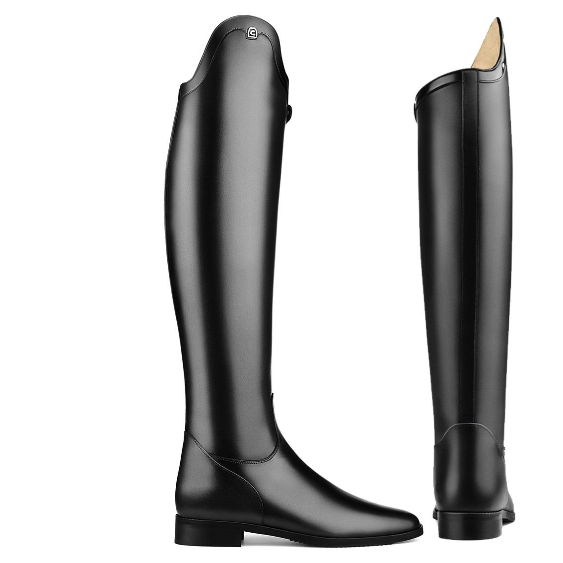 - Cavallo Dressur Reitstiefel INSIGNIS , Schwarz, Schuhgröße 5 (D 38), Schafthöhe 50cm, SchaftWeiße 37cm