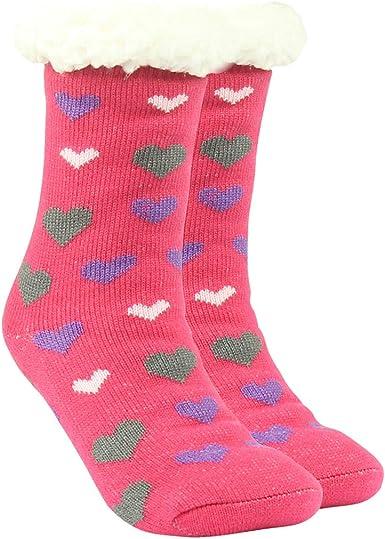 Fleece Socks or Slippers Pink