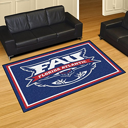 Fan Mats 20160 Florida Atlantic University Owls 5' x 8' Area Rug ()