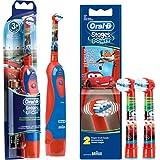 Juego de batería: 1braun Oral-B Stages Power Kids DB4.510.K–Cepillo de dientes eléctrico para niños (con temporizador Disney Cars + 2cabezales Stages Power Cars