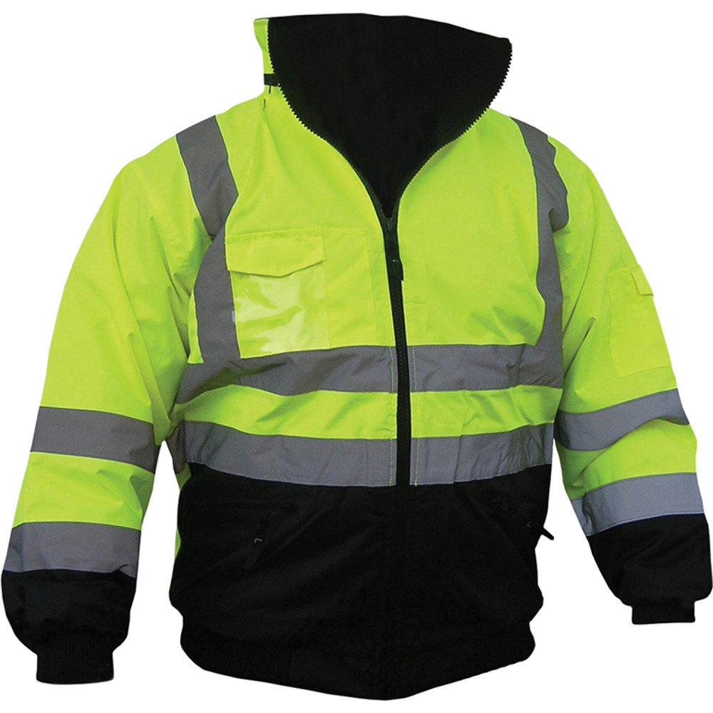 High Visibility Class III Reflective Jacket Removable Lining Two Tone (Large)
