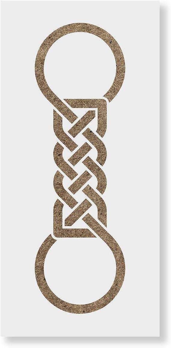 "Celtic Knot Stencil 3/"" Chain Weave Border Irish Ireland Decorate Art Craft Signs"