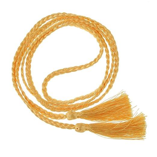 SM SunniMix Women Belt Hair Braided Rope Hanging Fringe for Craft