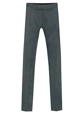 7b57bc08d84e Dobell Mens Black and Grey Striped Morning Wedding Suit Trousers Regular  Fit: Amazon.co.uk: Clothing